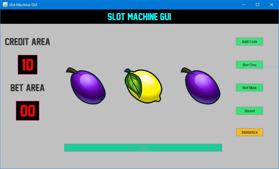 Slot Machine Java Code