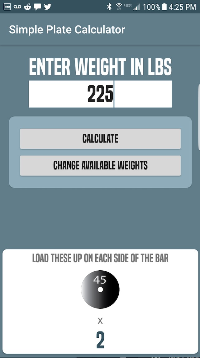 Github Tjblack31 Weightcalculator A Simple Barbell Plate Calculator For Android