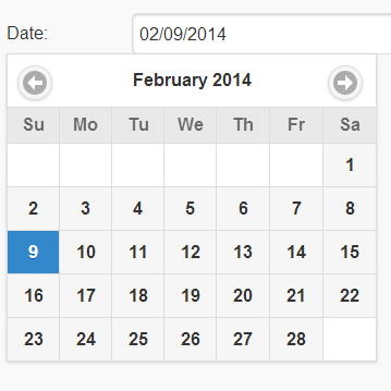 Inline datepicker should follow styling of inputs inside