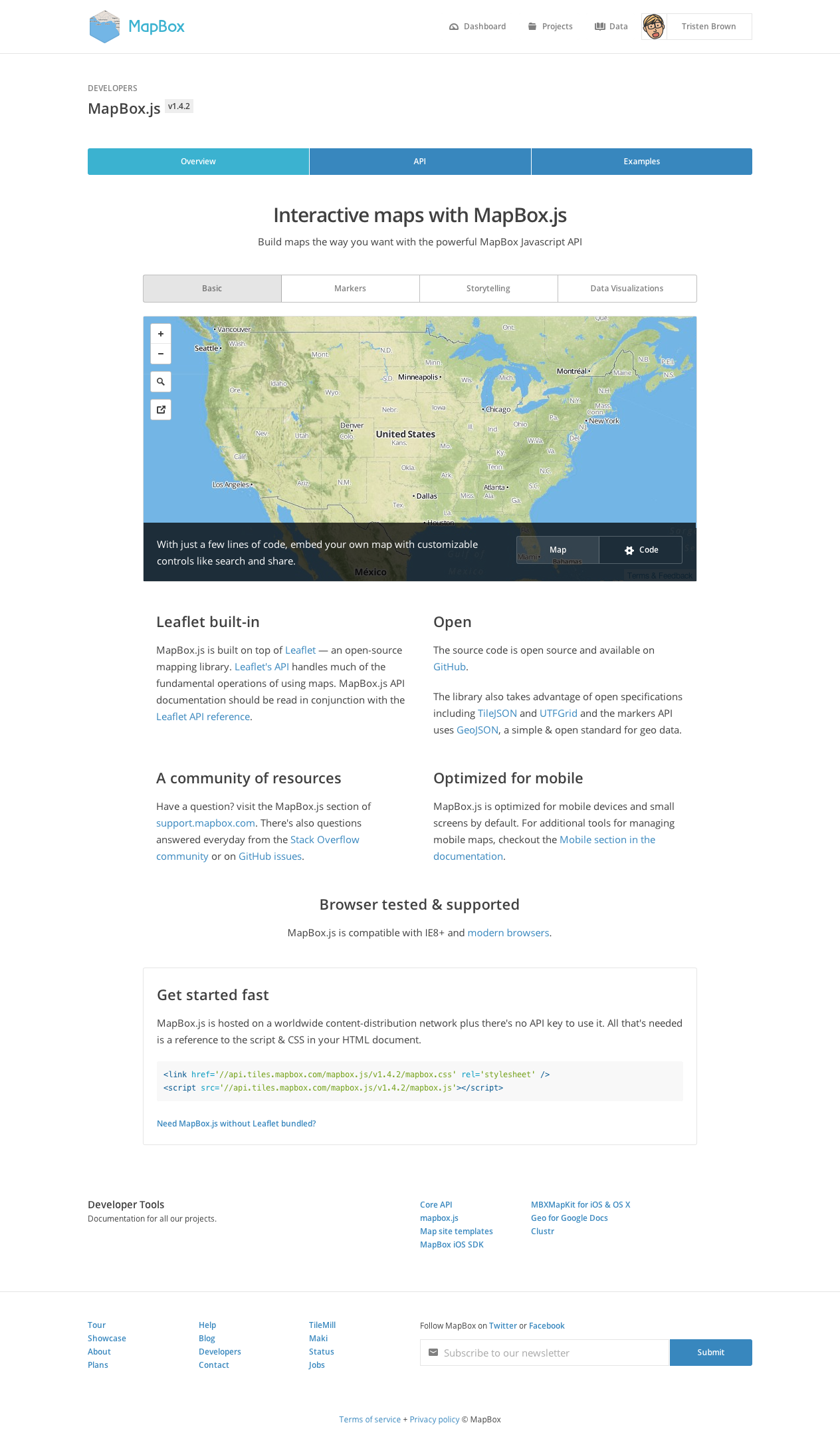 mapbox js - mapbox