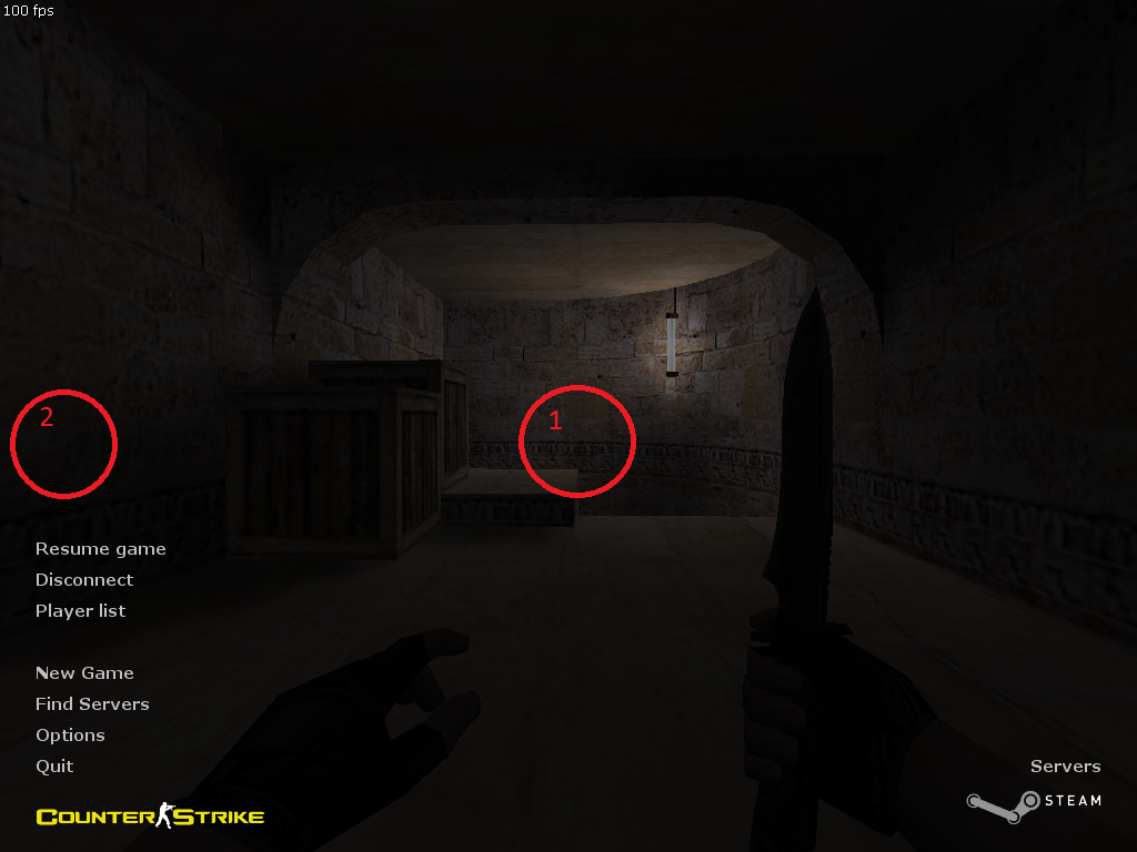 Half-Life - Bug] In-game cursor takes its previous position after
