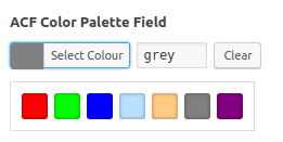 ACF Color Palette Field