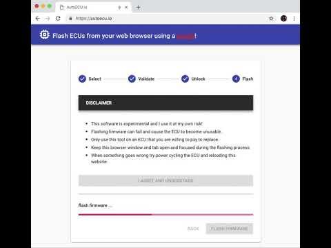 Flash Honda ECU firmware update from a web browser!