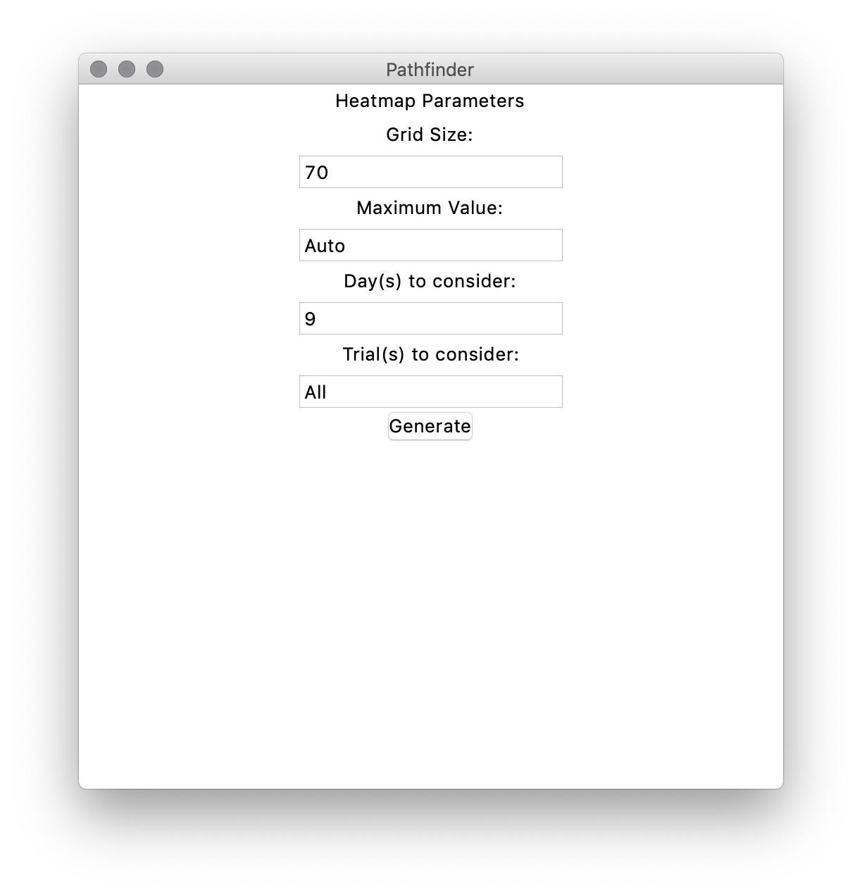 Heatmap parameters