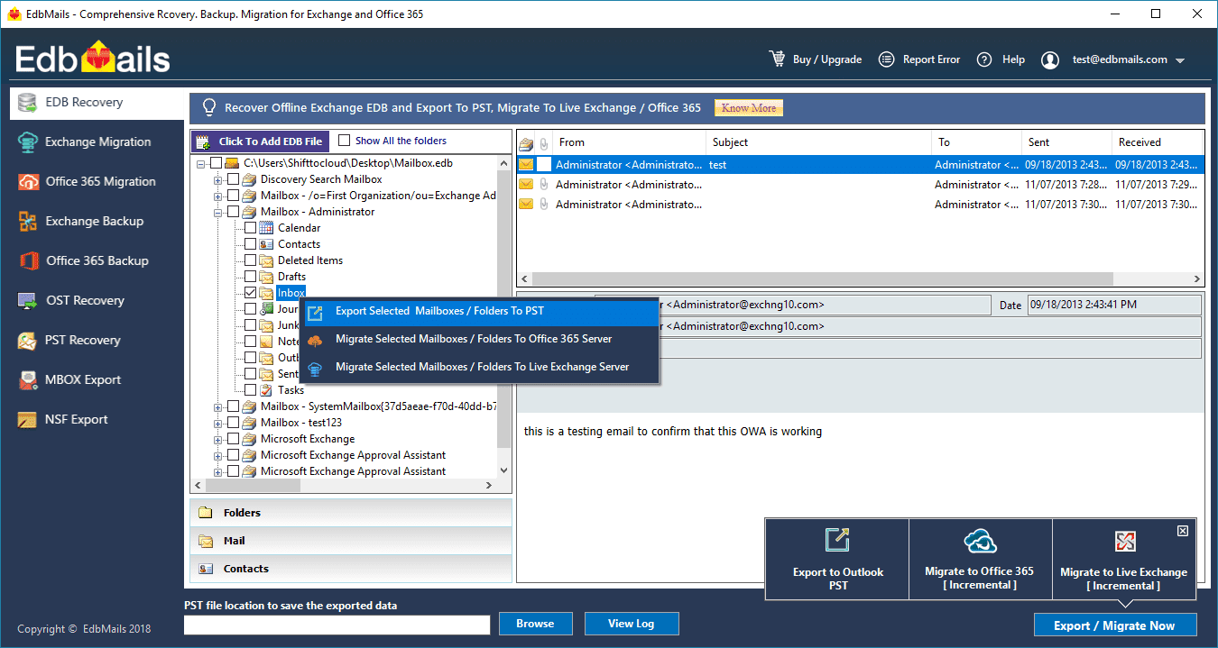 Advanced tool for EDB to PST Conversion · brendonsmith