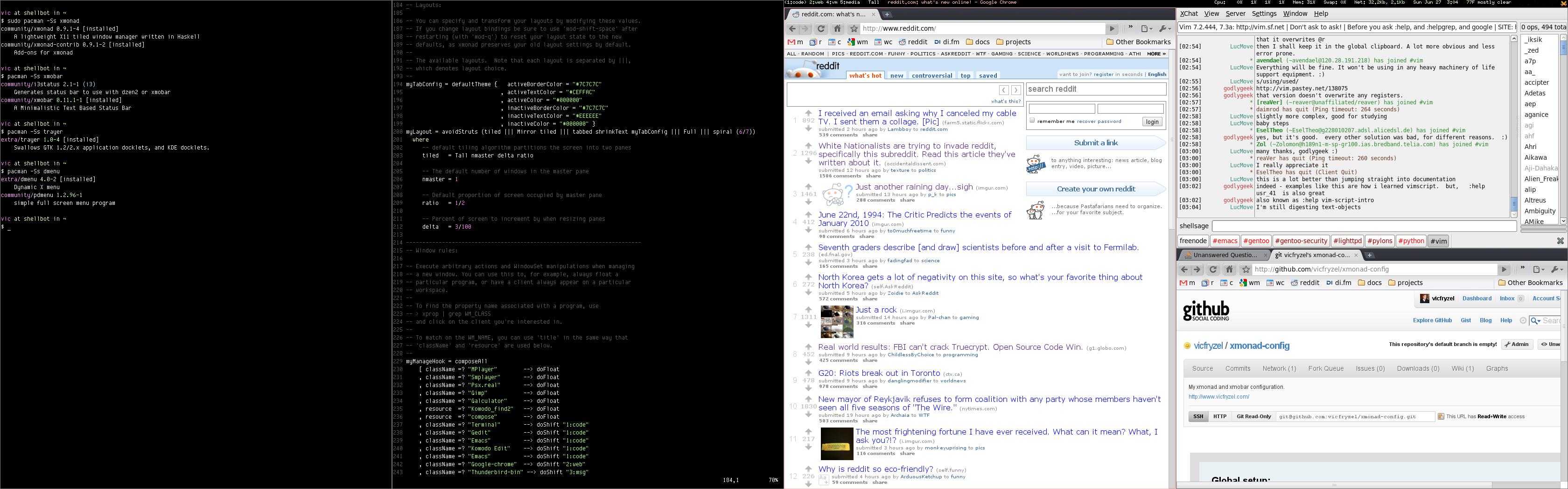 Screenshot of xmonad-config