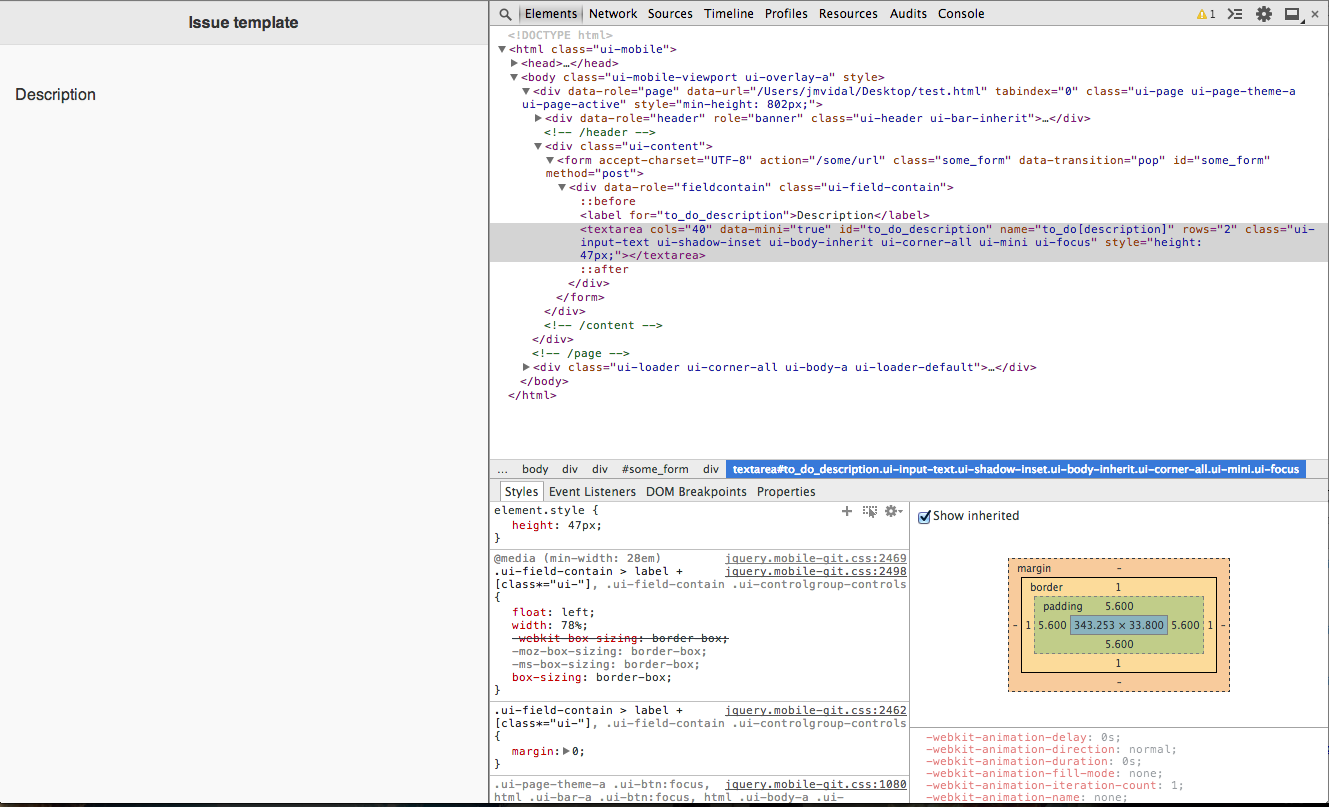 Textarea disappearing in Chrome and JQM 1 4 0 · Issue #6801