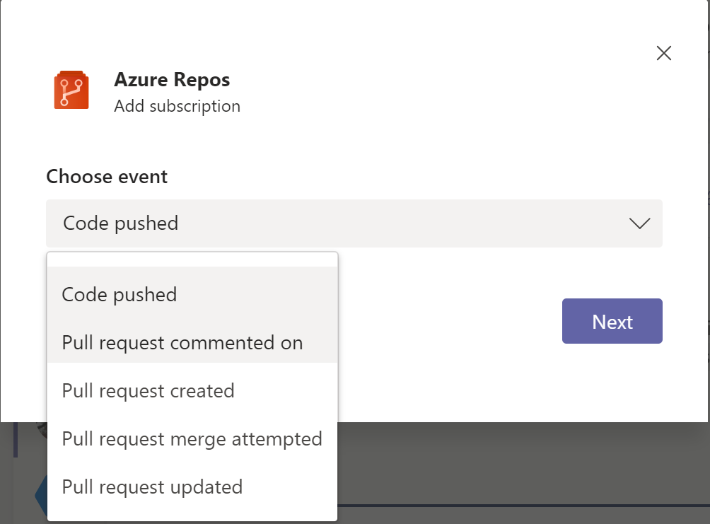 Azure DevOps now allows team admins to subscribe to events from MS Teams & Slack
