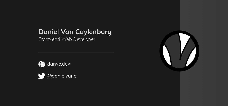 Daniel Van Cuylenburg - Front-end Developer
