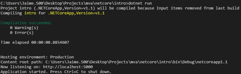 MVA Introduction to ASP NET Core 1 0 · GitHub