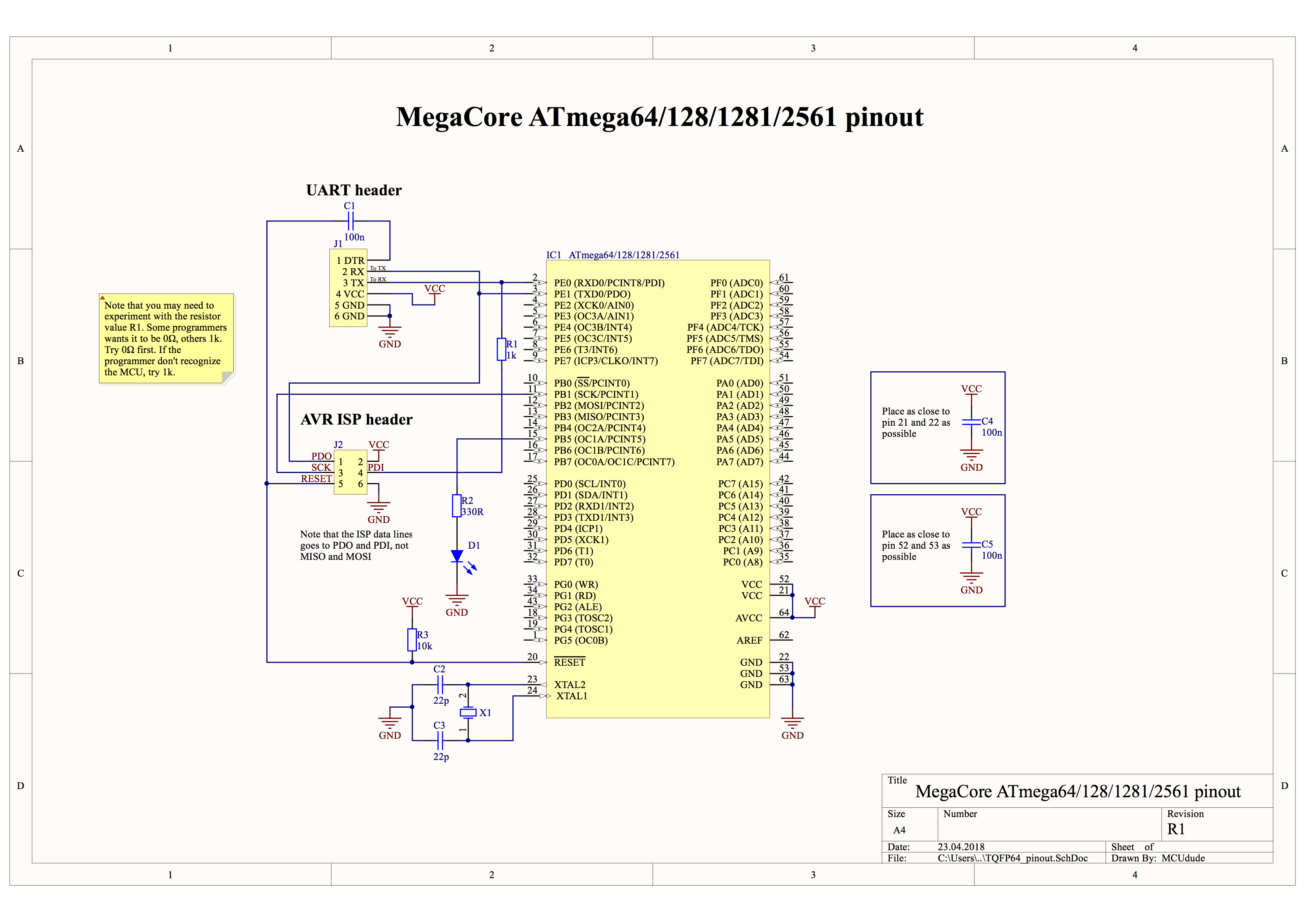Github Mcudude Megacore Arduino Hardware Package For Atmega64 External Schematic This Is The Of Connections Heres Some Simple Schematics 128 1281 2561 And Atmega640 1280 2560 Showing A Minimal Setup Using An Crystal