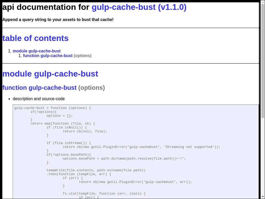 npmtest-gulp-cache-bust 2017 4 27 on npm - Libraries io