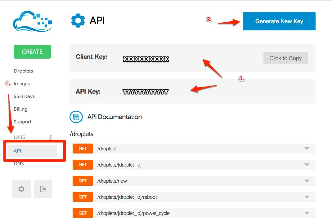 Create API credentials