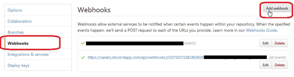 Simple Github -> Discord webhook · GitHub