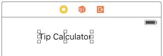 Tip Calculator Label