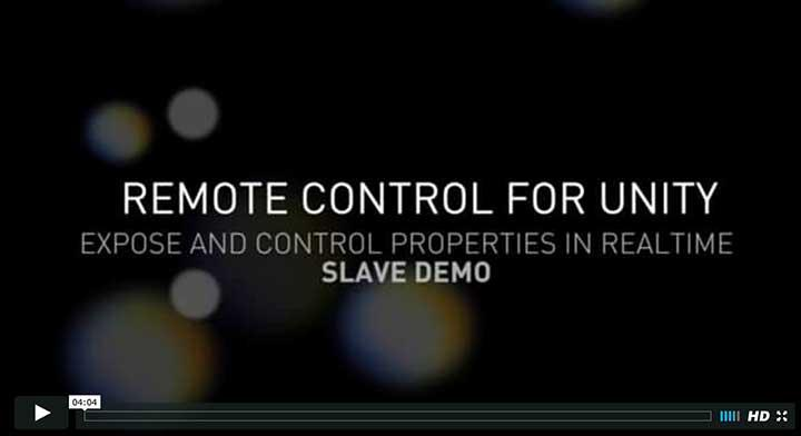 Remote Control for Unity Video