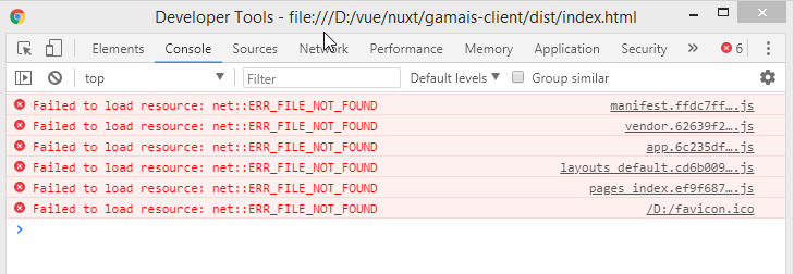 nuxt generate result not run properly · Issue #52 · nuxt