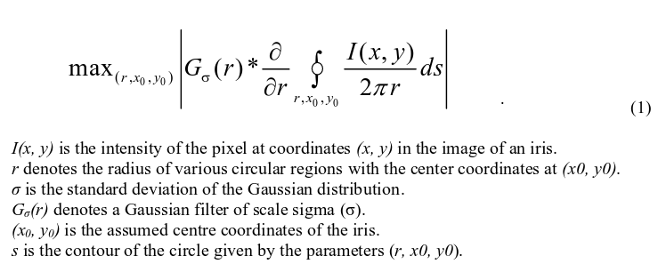 GitHub - banderlog/daugman: Daugman's algorythm for Iris detection