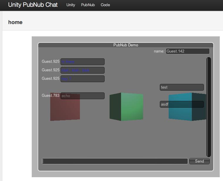 Unity3D PubNub C# Example