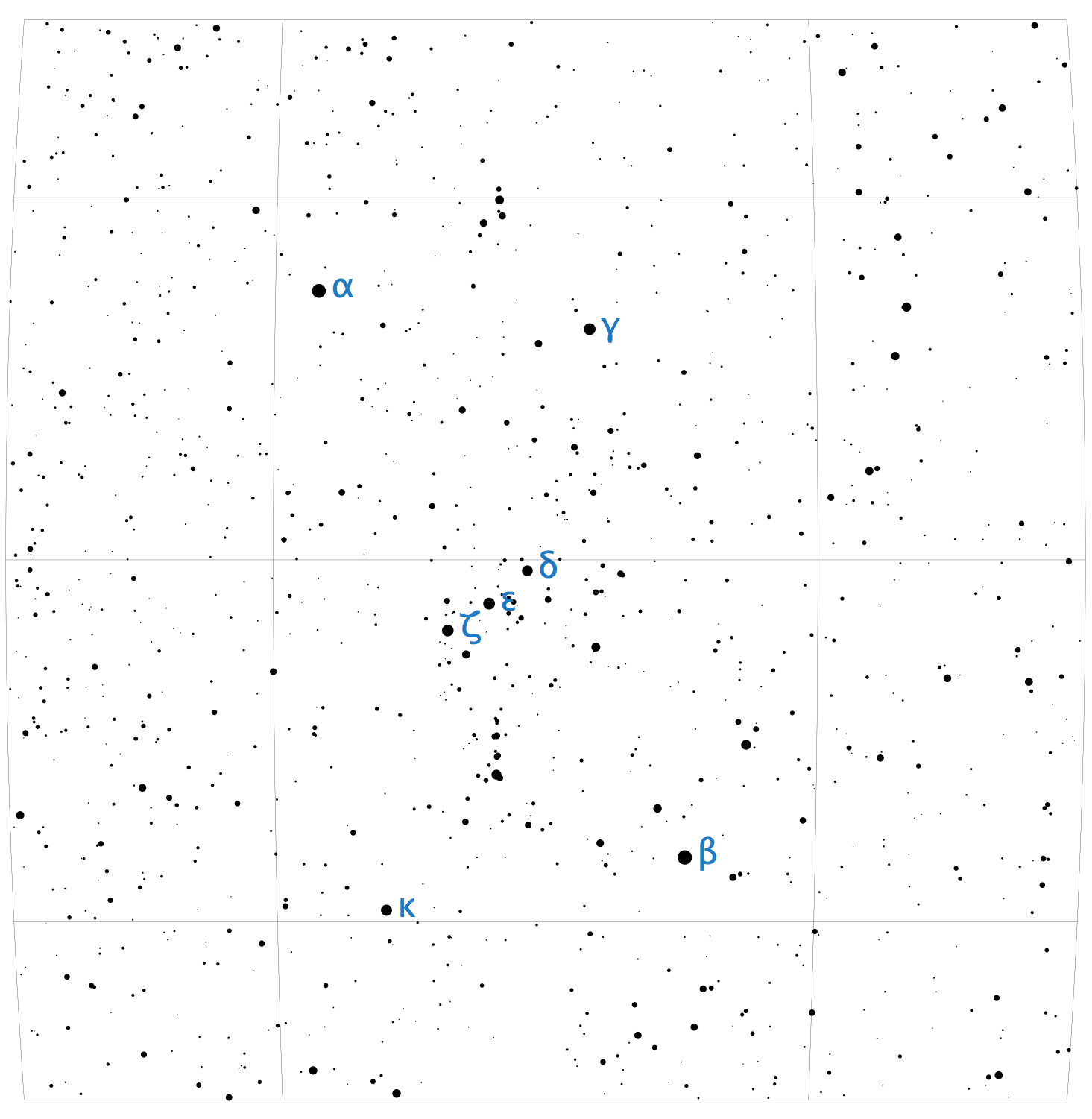 Star Chart showing Orion