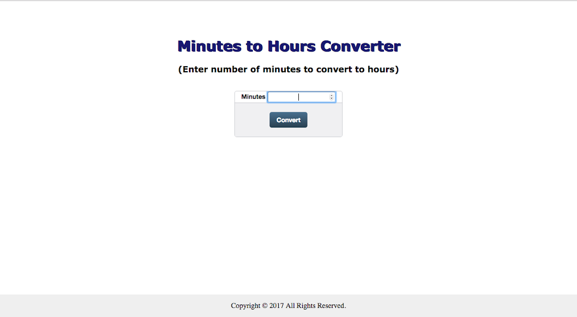 Early Web Minutes Converter