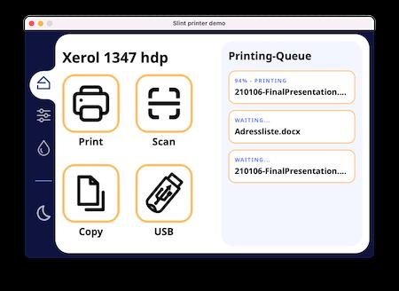 Screenshot of the Printer Demo