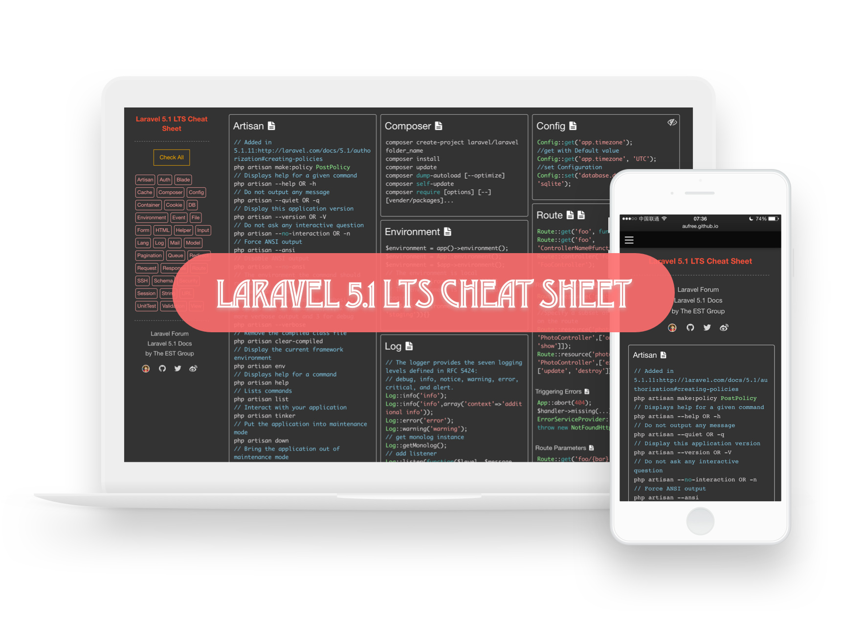 Laravel 5 Cheat Sheet