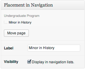 """The """"Navigation Attributes"""" metabox replaces the built-in """"Page Parent"""" and """"Menu Order"""" dropdowns"""