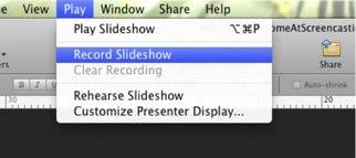 Record Slideshow