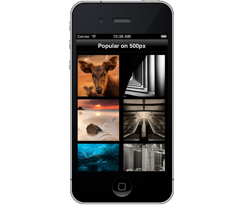 UICollectionView Example App
