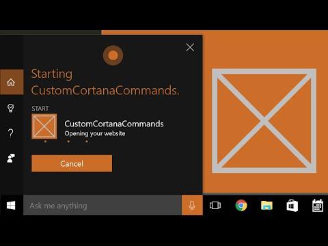 How to Create Custom Cortana Commands Tutorial 2