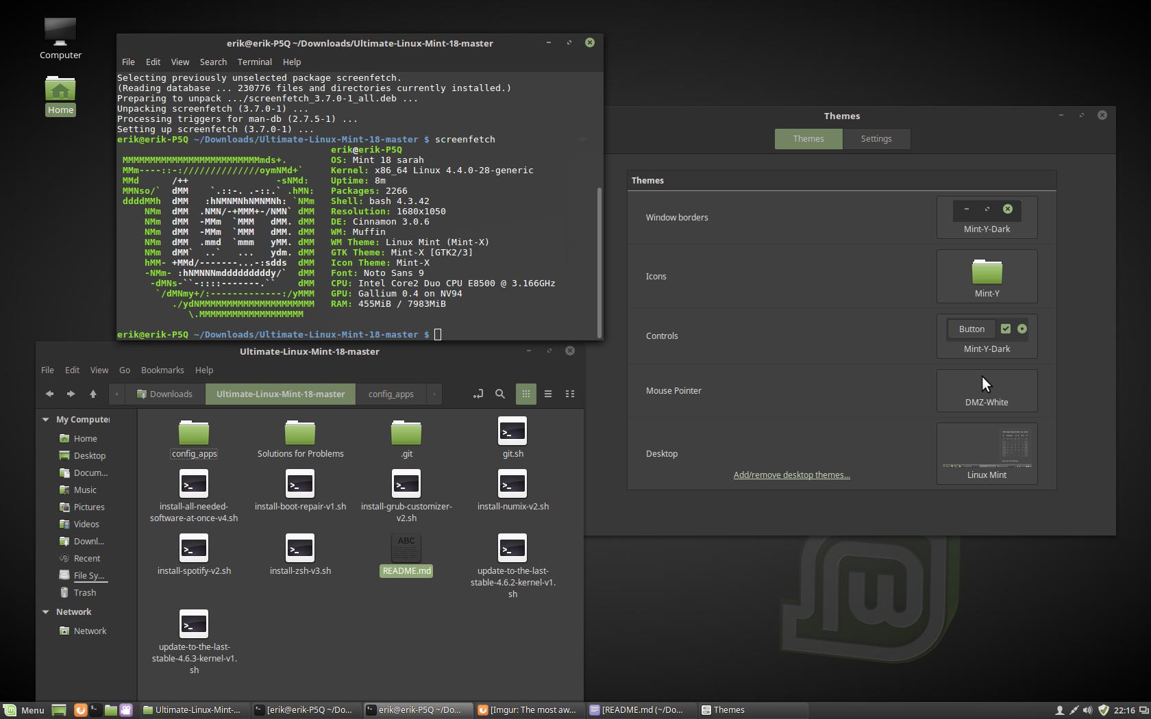 Github Alma4rebi Ultimate Linux Mint 18 Cinnamon Cinnamon Automated Script Installation Of Software