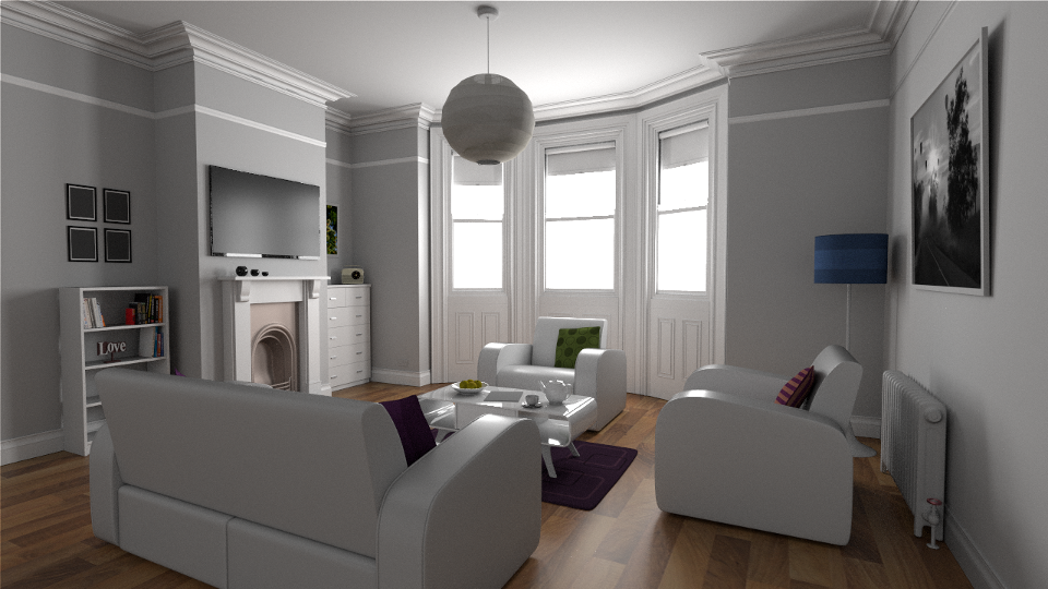 The White Room rendered by rs_pbrt