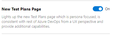 Enable new Test Plans page