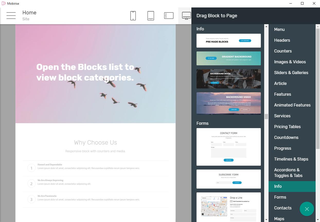 Mobirise | Apps | Electron