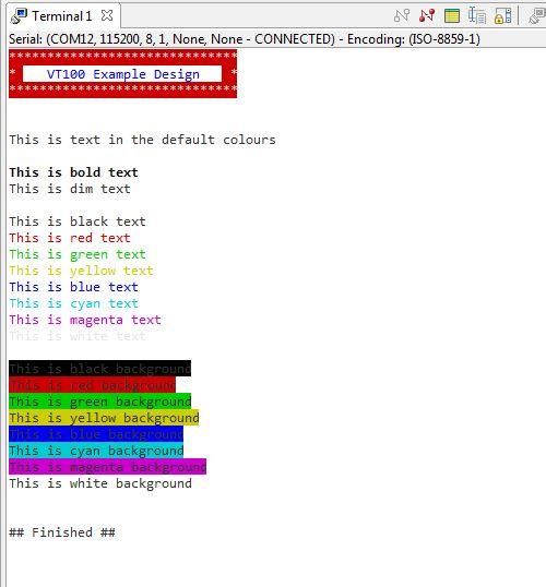 GitHub - Architech-Silica/VT100-Terminal-Library-Xilinx-SDK: Xilinx