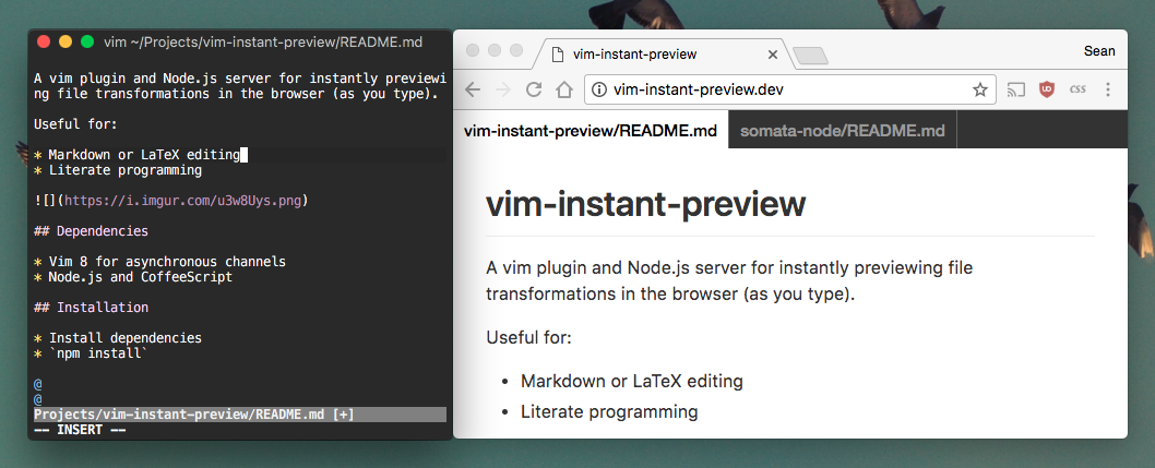 vim-instant-preview/README md at master · spro/vim-instant
