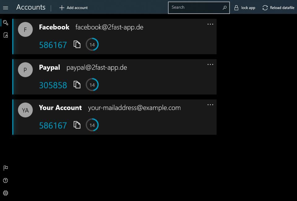 2fast Screenshot Account Screen