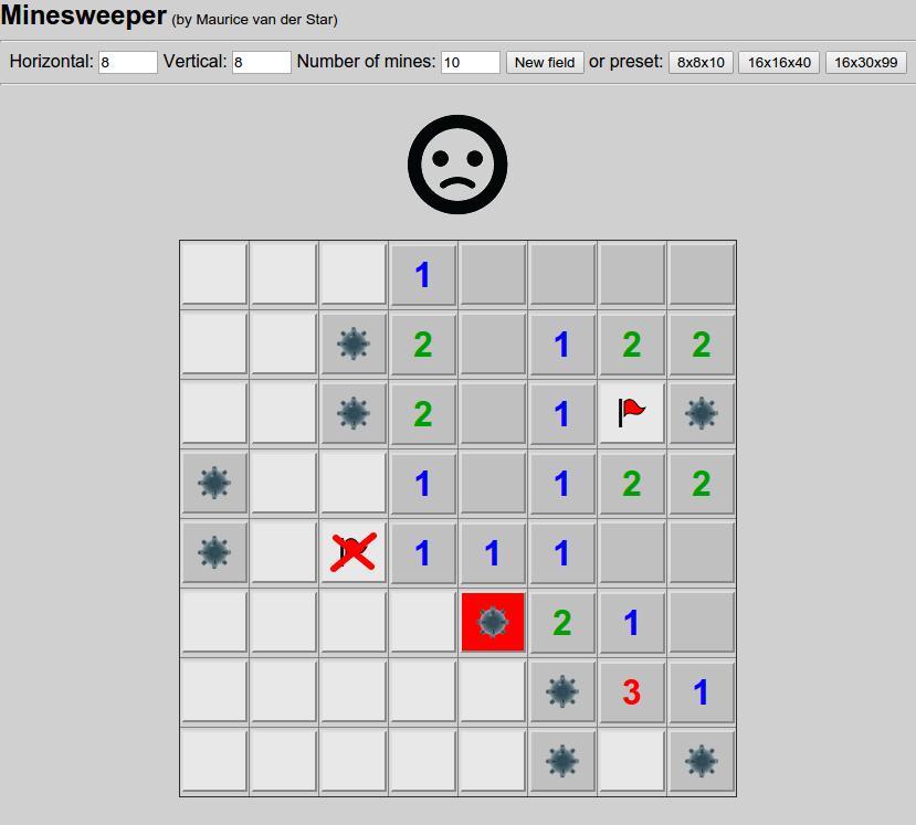 PHP-Minesweeper screenshot