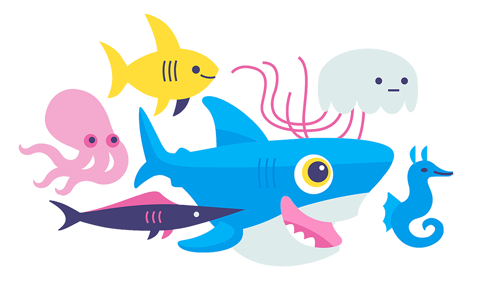 Sammy the Shark and other fish swimming