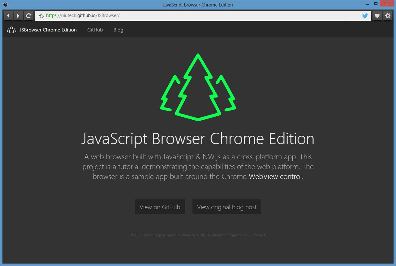JavaScript Browser Chrome Edition