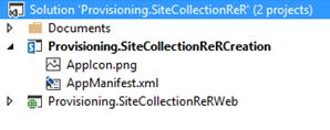 Visual Studio solution pcture