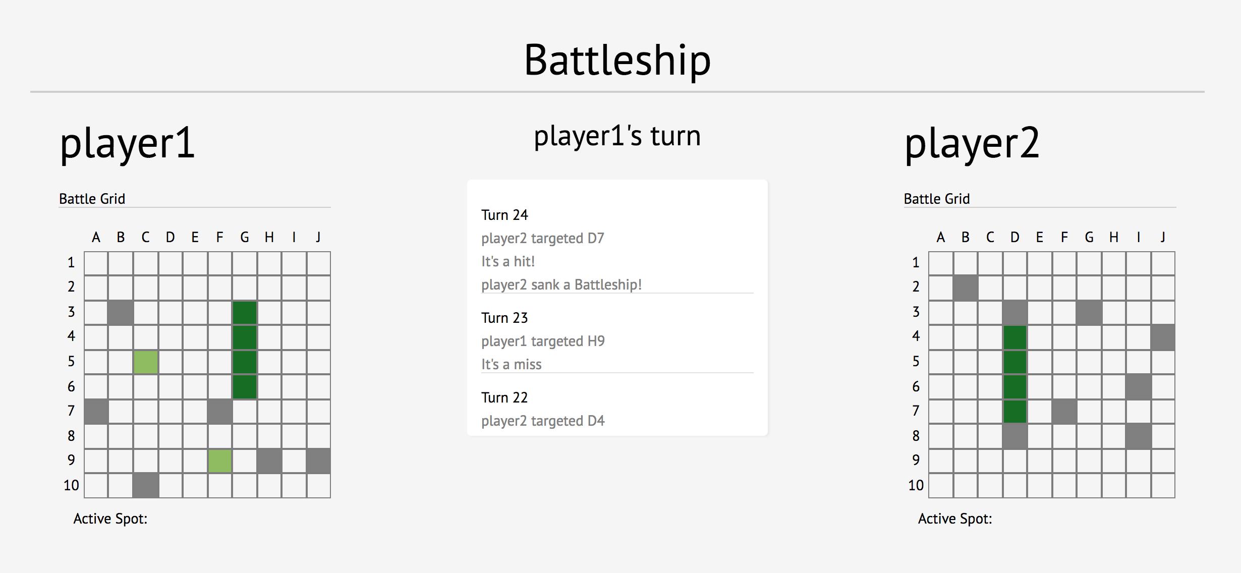 Github Messerc Battleship A Simple Implementation Of Battleship Built With React