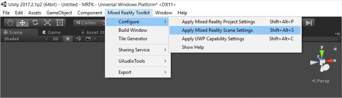 Mixed Reality Toolkit Menu · microsoft/MixedRealityToolkit