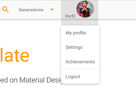 Dropdown profile settings with image · Issue #3016 · Dogfalo