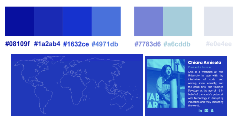 Developh Color Palette and Examples