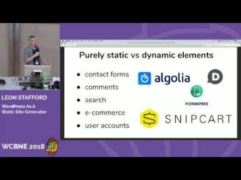 WordPress as a Static Site Generator