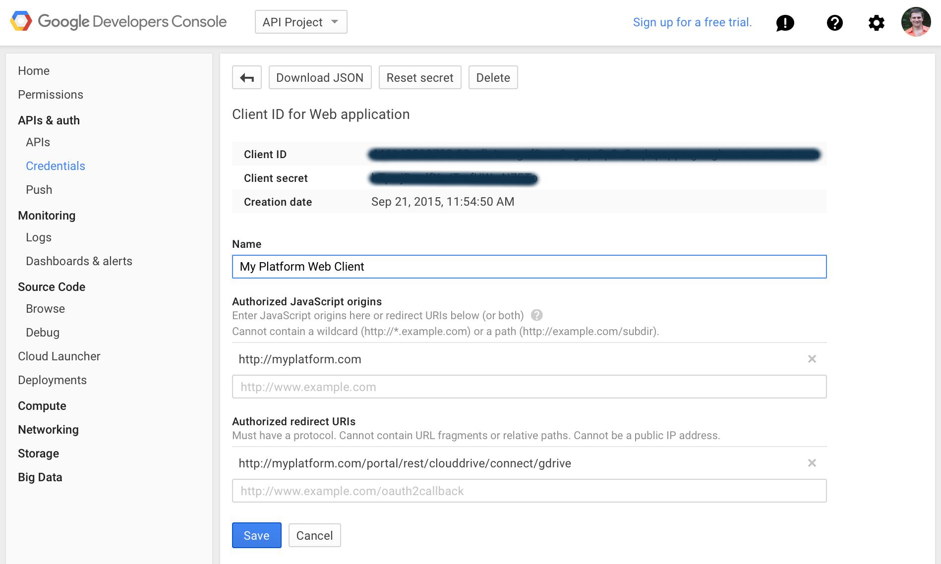Google Drive API Access
