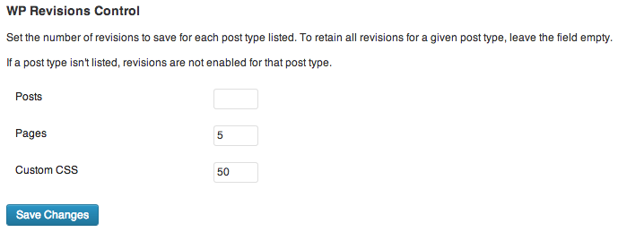 The plugin's settings section, found under Settings > Writing.