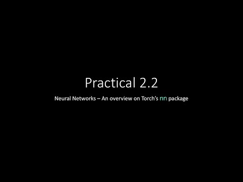 Practical 2.2 - nn package